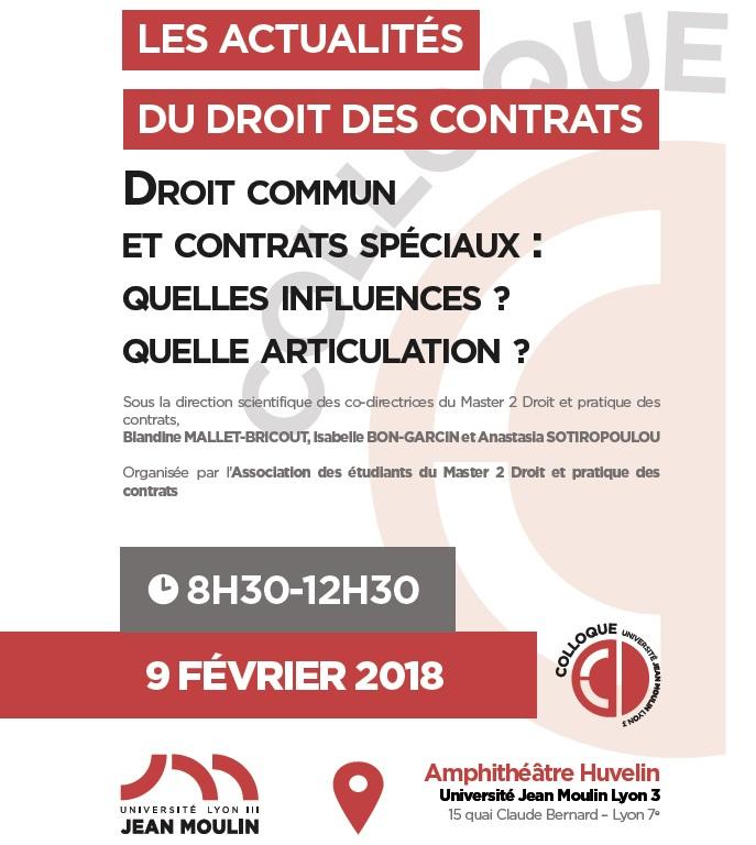 Les Actualites Du Droit Des Contrats Droit Commun Et Droits Speciaux Quelles Influences Quelle Articulation Ufr De Droit Julie Victoire Daubie