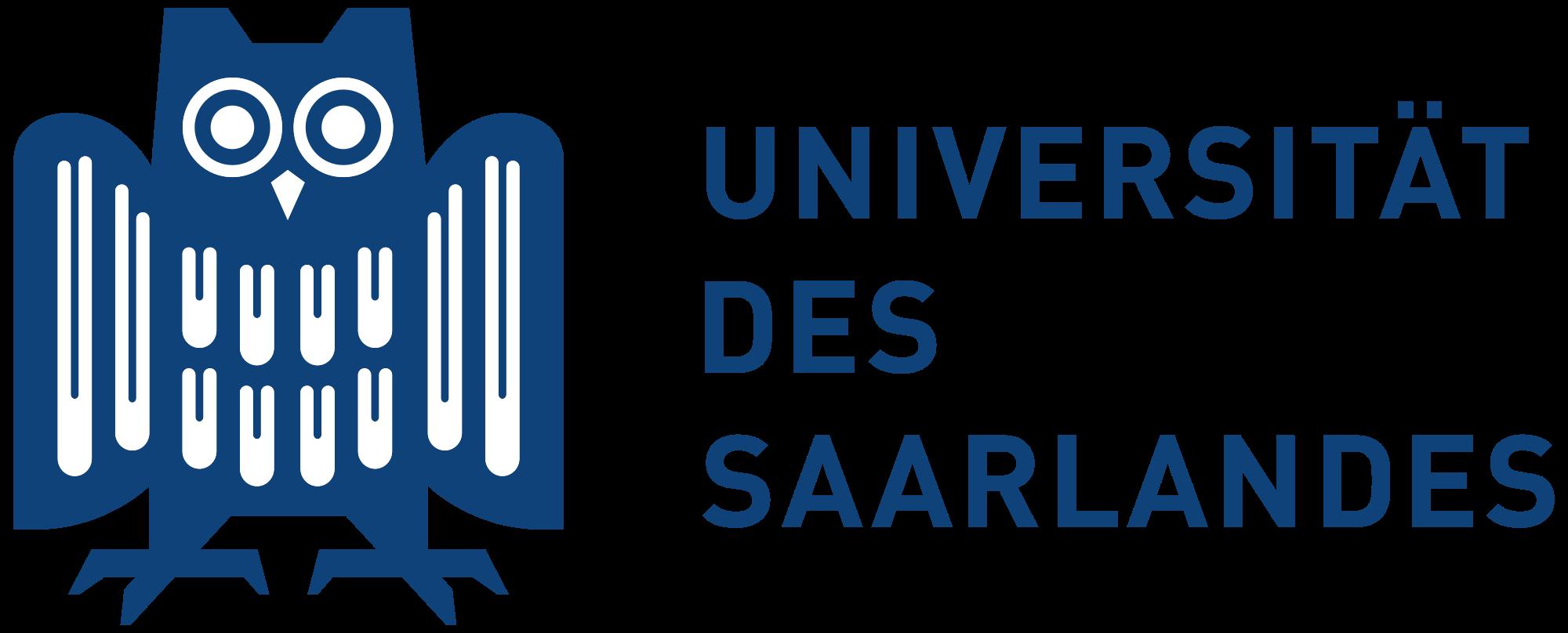Universität des Saarlandës Logo